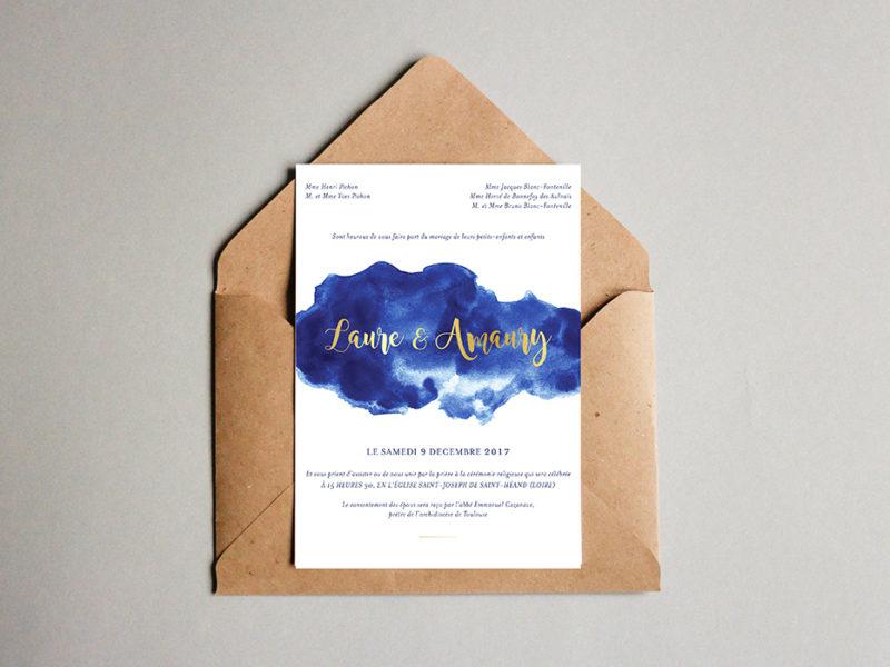 L&A wedding stationary